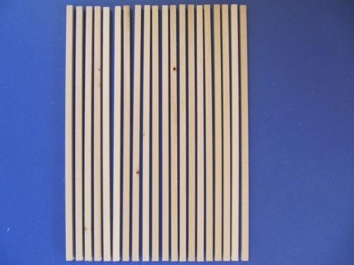 Vierkantleisten Linde  A+B-Ware 8x8mm  345mm lang 20Stk.