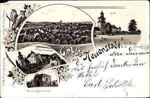 Litho Neuenstadt am Kocher in BW, Linde, Ortschaft, Schloss v.... - 10062256