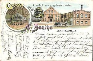 Litho Benthe Ronnenberg, Gasthof zur grünen Linde, H. Carthus, Saal - 1116344