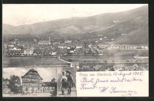 AK Oberkirch, Gesamtansicht, Geldreich´s Gasthof zur Linde, Renchthaltrachten