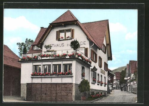 alte AK Lauf, Blick auf Gasthaus und Pension Linde