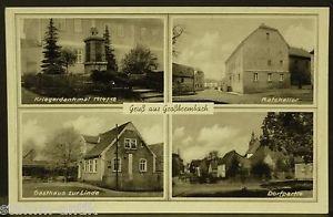 Großbrembach,Thür.,Ratskeller,Gasthaus zur Linde,Kriegerdenkmal 1914/18,alte Ak