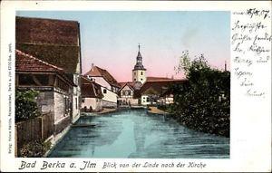 Ak Bad Berka im Weimarer Land Thüringen, Blick von der Linde zur... - 1646230