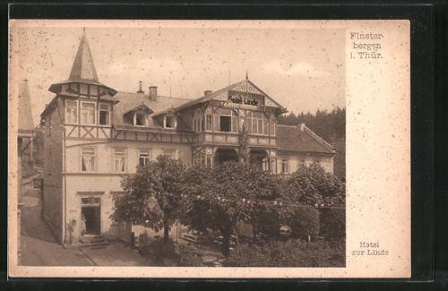alte AK Finsterbergen, Hotel zur Linde 1931