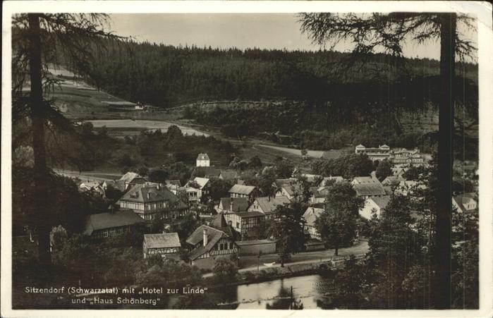 71325064 Sitzendorf Thueringen Teilansicht mit Hotel Zur Linde Haus Schoenberg S