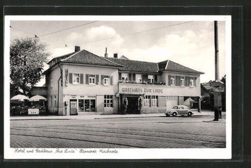 schöne AK Hannover-Kirchrode, Hotel & Gasthaus Zur Linde, Tiergartenstraße 124