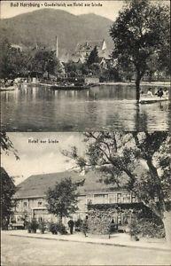Ak Bad Harzburg, Blick auf Gondelteich am Hotel Zur Linde  - 10067887