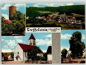 52055471 - Treffelstein Drachenturm Kirche alte Linde