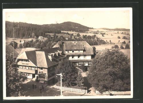 schöne AK Hinterzarten, Blick auf das Hotel Linde 1943