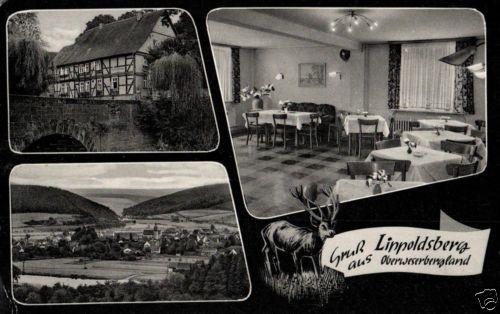 18032/ Foto AK, Gruß aus Lippoldsberg, Gast und Pensionshaus zur Linde, ca.1955