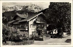 Ak Garmisch Partenkirchen in Oberbayern, Gasthof zur Linde, Gg.... - 10000419