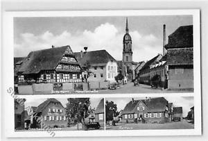 39105889 - Schuttern mit Hauptstrasse, Gasthaus zur Linde und Rathaus ungelaufen