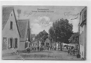 39099239 - Dackenheim. untere Dorfstrasse mit Linde gelaufen. Gute Erhaltung.