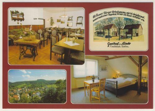 AK _ Gasthaus Pension Zur Linde in Fischbach bei Gotha _ai156