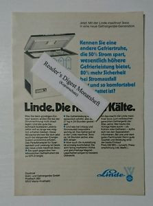 Werbeanzeige/advertisement A5: Linde maxifrost 3000 Gefriertruhe 1980(041016213)
