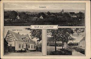 Ak Leutenthal Thüringen, Totalansicht, Gasthof zur Linde, Partie... - 10125509