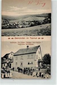 52186294 - Gemuenden , Kr Usingen, Taunus Gasthaus Zur Linde Besitzer Fritz Scha