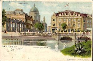 Litho Potsdam in Brandenburg, Bittschriften Linde, Stadtschloss,... - 1127560