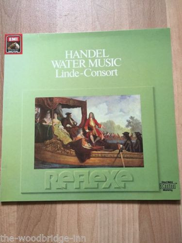 HANDEL WATER MUSIC LINDE-CONSORT (EMI REFLEXE 27 0091 1) G/FOLD LP ALBUM GGK