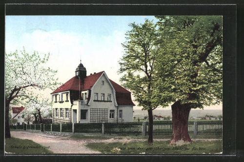 tolle AK Dresden-Niederpoyritz-Rockau, Partie an der 400 jährigen Linde 1924