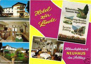 AK, Holzminden - Neuhaus im Solling, Hotel zur Linde, fünf Abb., gestaltet, 1976