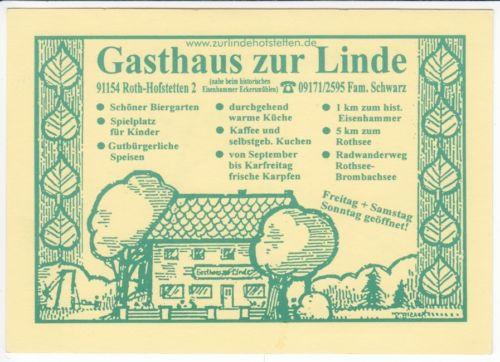 """Ak  ROTH - HOFSTETTEN   """"Gasthaus zur Linde""""  (  81  314 ) N"""
