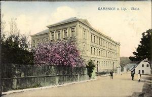Ak Kamenice nad Lipou Kamnitz Linde Reg. Hochland, Skola, Schule,... - 10065233