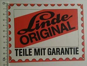 Aufkleber/Sticker: Linde Original teile mit Garantie (190616147)