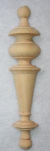 Holzzierteil in Linde Halb Turm,Verzierung,Vertiko,Antiker Schrank,Kommode,Nr.1