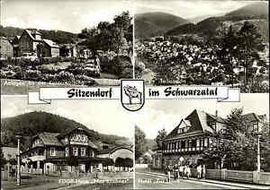 DDR Postkarte Thüringen SITZENDORF Schwarzatal 1982 ua. Hotel Zur Linde, FDGB H.