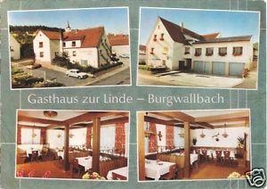 AK, Burgwallbach, Gasthaus zur Linde gestaltet, um 1970