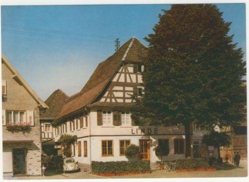 AK _ Gasthof zur Linde in Kappelrodeck mit VW Käfer _zd806