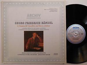 HANS MARTIN LINDE Handel 6 Sonatas Querflote ARCHIV LP 2533 060