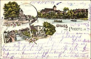 Litho Preetz in Schleswig Holstein, Grolse Linde, Weinberg, Lange... - 1188816