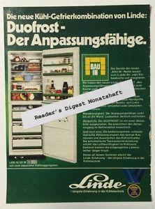 Werbung ca A5: Linde Kühl Gefrierkombination 1974 (14111421)