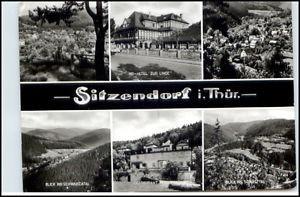 DDR Postkarte Stempel SITZENDORF Thüringen ua. HO-Hotel Zur Linde BedarfsAK 1979