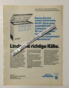Werbung Linde Gefriergetäte      von 1980   (10071428)