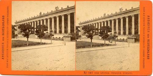 E. LINDE BERLIN GERMANY 1874 STEREOVIEW DAS KONIGL ROYAL MUSEUM BERLIN 1874