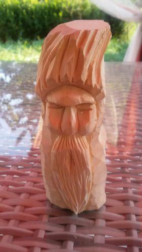 Gesicht Baumelf Holzfigur Hand geschnitzt aus linde Einzelstück