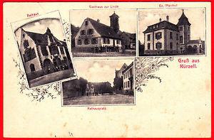 A214) Kürzell Mehrbild-Ak mit Gasthaus zur Linde gel. 1911