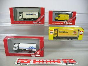 AP337-0,5# 4x Herpa H0 Modelos: 806050 Linde+LKW Ferrocarril trans+042680 Post+