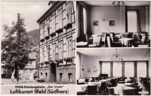 Ilfeld 3 Bild: FDGB Erholungsheim - Zur Linde (Speisesaal) b Nordhausen  1962