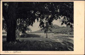 Ak Kelbra im Kreis Mansfeld Südharz, Alte Linde und Blick auf... - 1015398