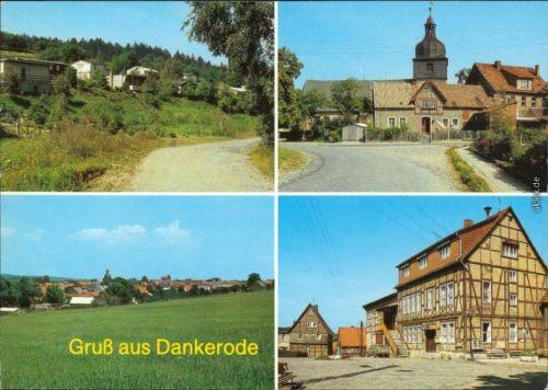 """Dankerode Bungalowsiedlung, Anger,   Konsum-Gaststätte """"Zur Linde"""" 1987"""