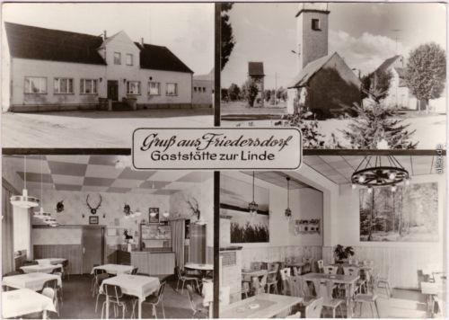 Friedersdorf Rückersdorf 4 Bild: Gasthof zuer Linde - b Finsterwalde 1986