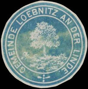 Löbnitz an der Linde: Gemeinde Löbnitz an der Linde Siegelmarke