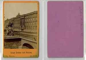 E. Linde, Allemagne, La statue équestre de Frédéric II CDV vintage albumen carte