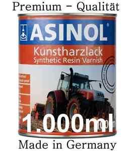 ASINOL Linde rot 1.000ml Lack Farbe Kunstharzlack