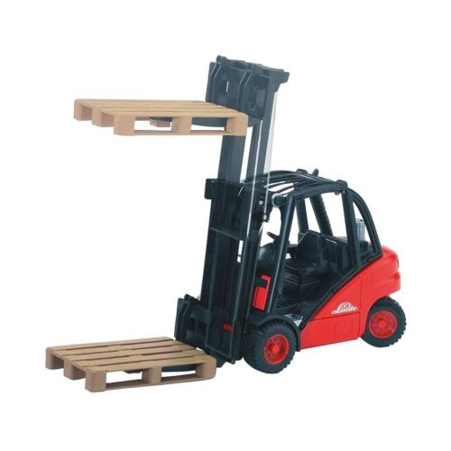 Bruder 02511 Linde H30D Forklift with Tow-Coupling and 2 Pallets