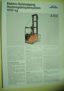 Sales Brochure Original Prospekt Linde Elektro-Schmalgang Hochregalstaplersystem